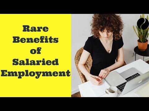 Unsung benefits of Salaried employment ( Benefits of Employment)
