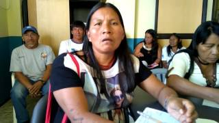 Alicia Caguia, Waoroni indigenous leader signs Nature Nations Declaration of Independence