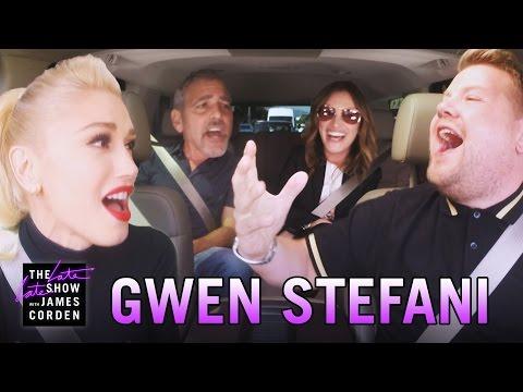 Gwen Stefani Carpool Karaoke (w/ George Clooney & Julia Roberts)