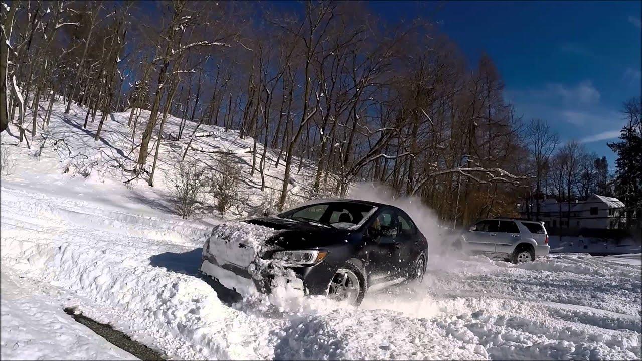 Blizzak Snow Tires >> Subaru WRX STi DEEP SNOW - YouTube