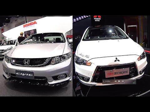 New 2016, 2017 Mitsubishi Lancer VS Honda Civic - YouTube