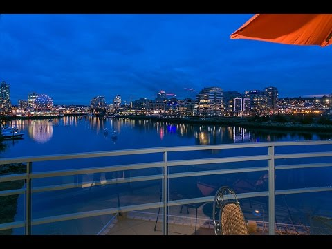 Yaletown 3 Bedroom Waterfront Condo For Sale at 600-9 Smithe Mews.