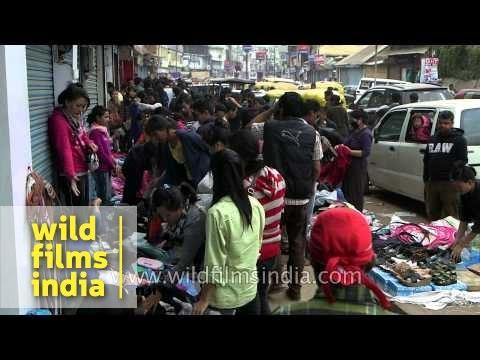 Shopping at Bata line junction in Dimapur, Nagaland