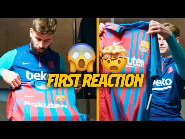PIQUÉ and DE JONG's FIRST IMPRESSION on the NEW KIT (UNBOXING)