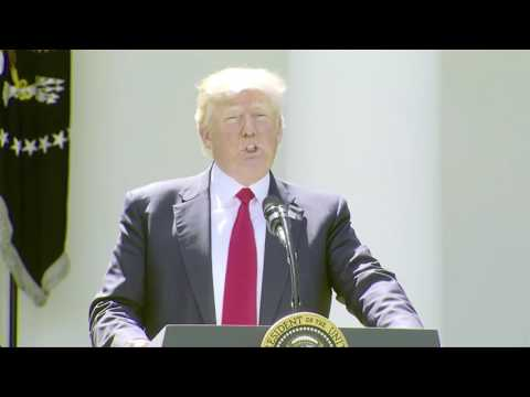 Full speech of Trump announcing withdrawal from Paris climate agreement