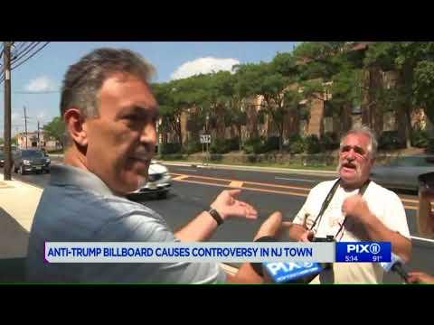 Billboard calling Trump `idiot` roils New Jersey town