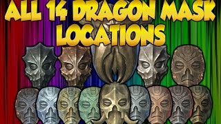 Skyrim ALL 14 Dragon Priest Mask Locations in Special Edition + Dragonborn DLC GUIDE! (Xbox One)