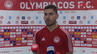 Δηλώσεις Μασούρα (Ολυμπιακός - Άρης) / Masouras statements (Olympiacos - Aris FC)