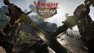 Warhammer Vermintide Stromdorf Elf Gameplay - The Courier Cataclysm Duo (No HUD)