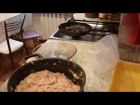 Куриные котлетки с плавленным сыром
