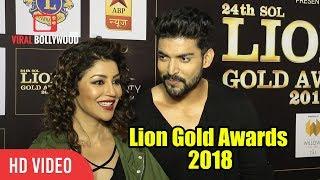 Gurmeet Chaudhary With Wife Debina Bonnerjee | Lion Gold Awards 2018