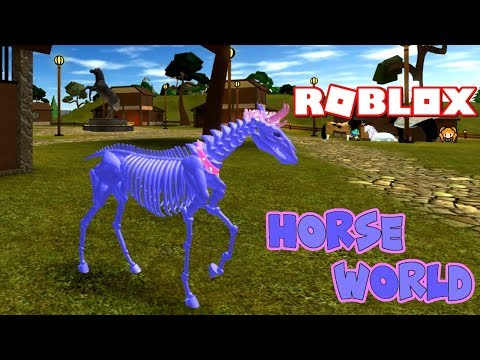 Roblox Horse World Skeleton Horse Roblox Horse World Bag Of Bones Funny Moments Emotes My Character Story Youtube