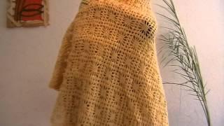 Вязание Палантин ажурный Вязание крючком