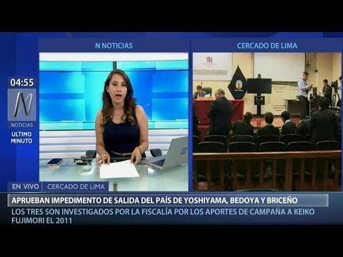 Juez Richard Concepción dicta impedimento de salida del país para Yoshiyama, Bedoya y Briceño