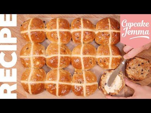 How To Make Hot Cross Buns | Cupcake Jemma