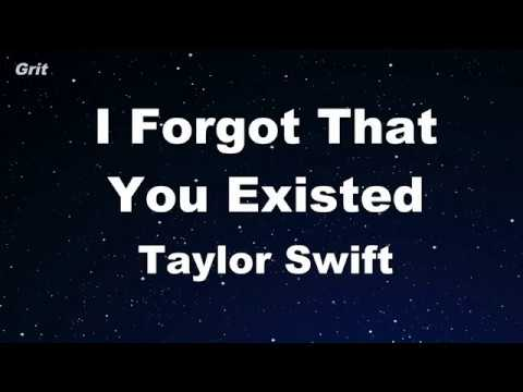 I Forgot That You Existed - Taylor Swift Karaoke 【No Guide Melody】 Instrumental