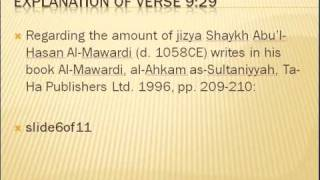 Explanation of Quran 9 verse 29.wmv