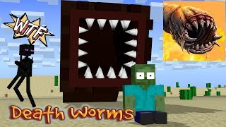 Monster School DEATH WORM Minecraft Animation