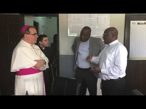 H E Most Rev  Antonio Guido Filipazzi, the new Apostolic Nuncio to Nigeria meets briefly with Carita