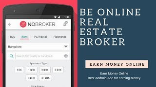 Do you know about the programme click and earn. checkout nobroker awesome referral where can earn money at your home just becoming a online...