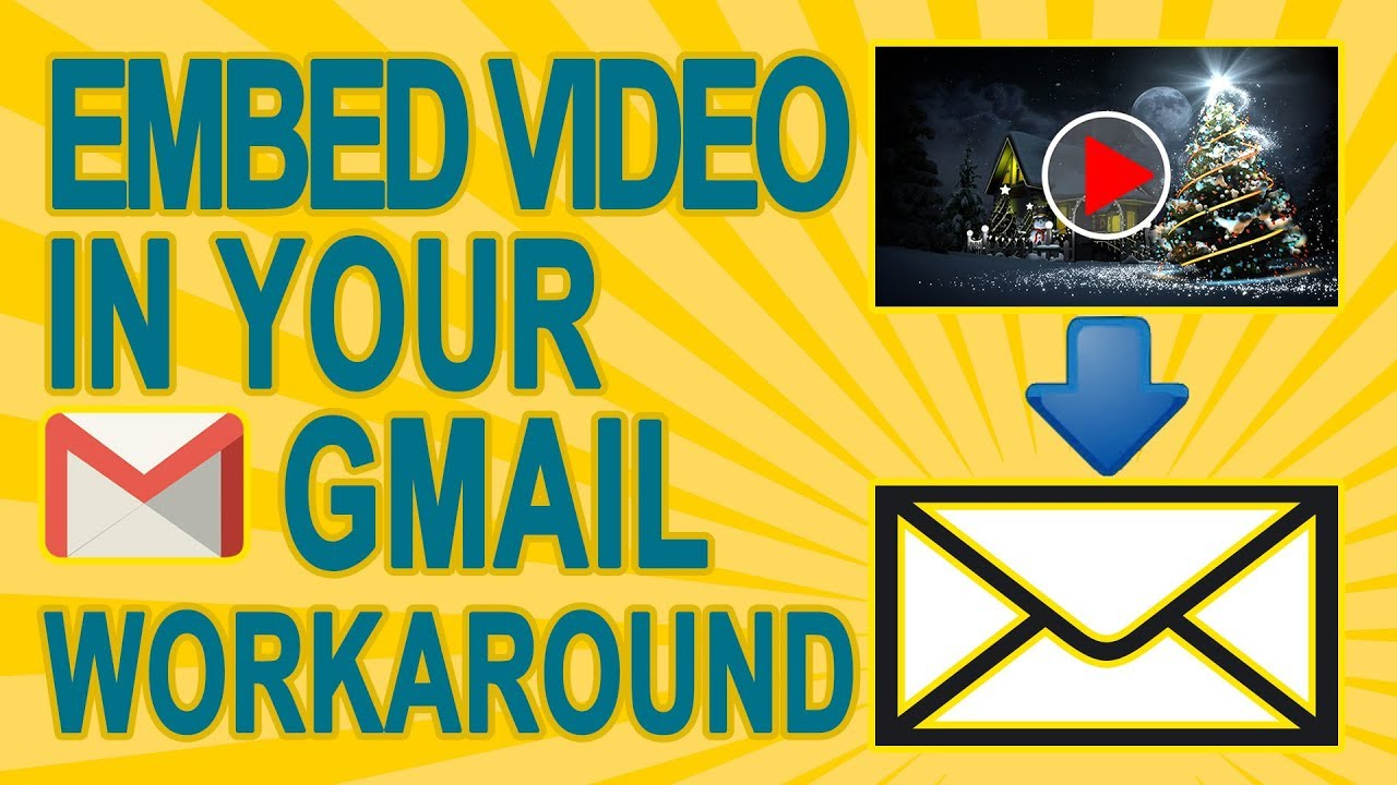 how to put a youtube video in gmail