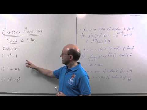 Complex Analysis 12: Zeros and Poles