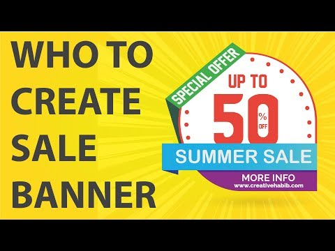 How to make effective sale banner design in Adobe Illustrator | Creative habib