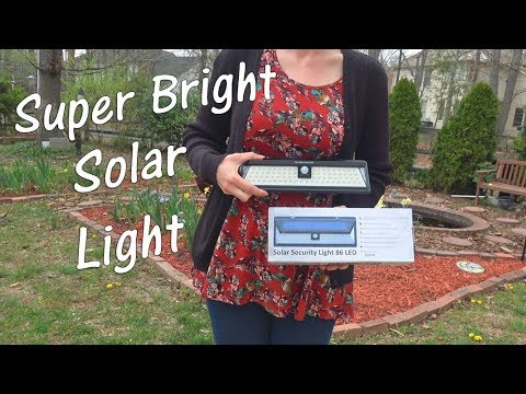 💥SOLAR LIGHT - SUPER BRIGHT SWEET HOME  LIGHT (9500 Lumen-86 LED) MOTION SENSOR SECURITY REVIEW  👈