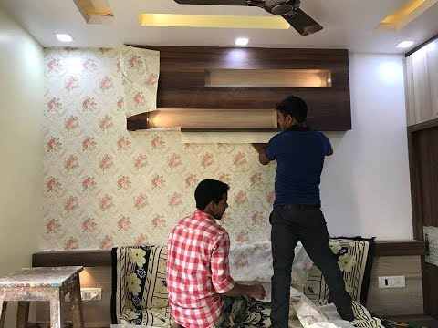 How To Pasting Wallpaper In Wall Wallpaper Design For
