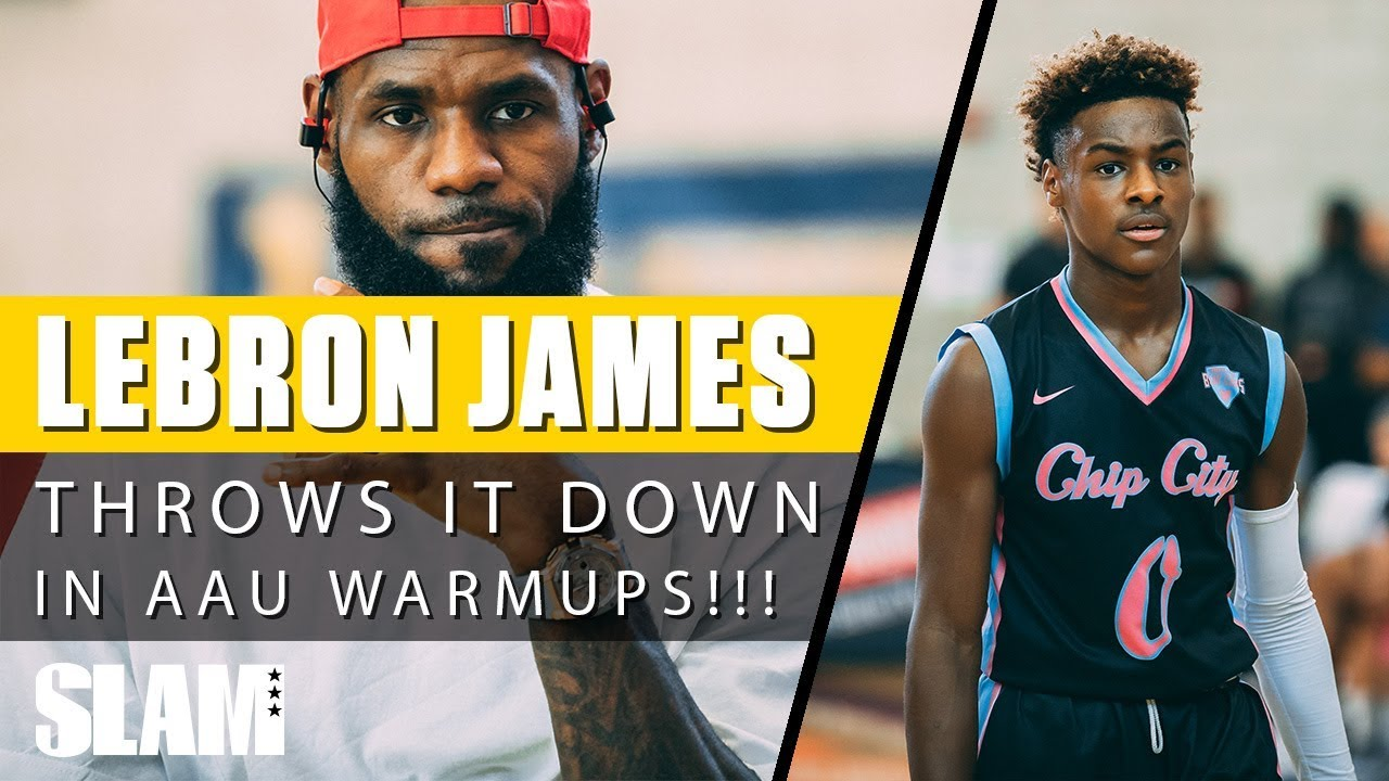 huge selection of 41120 ecddc Coach LeBron James Warms up with Bronny and the Blue Chips 💪