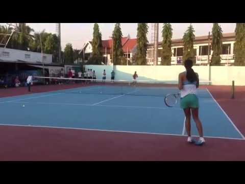 Anne Keothavong had done tennis clinic for laos tennis players