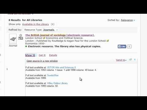 Accessing E Journals