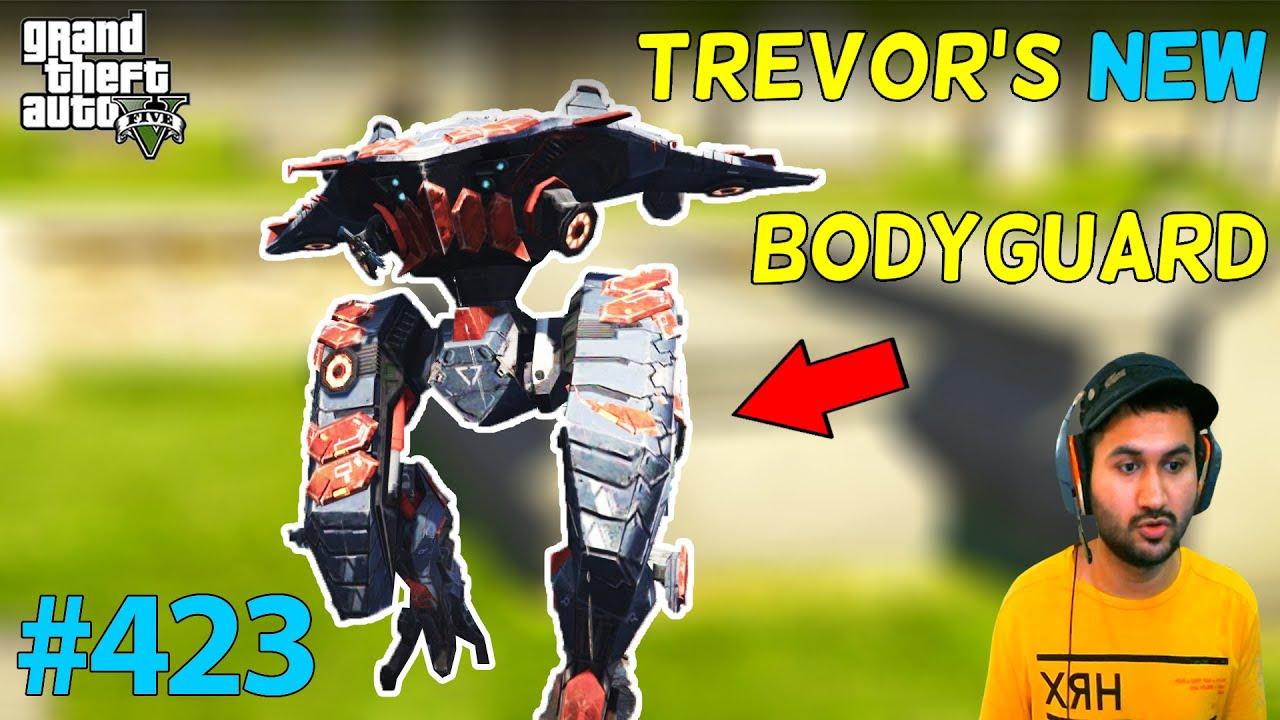 TREVOR'S NEW GIANT ROBOT BODYGUARD GTA 5 | GTA5 GAMEPLAY #423