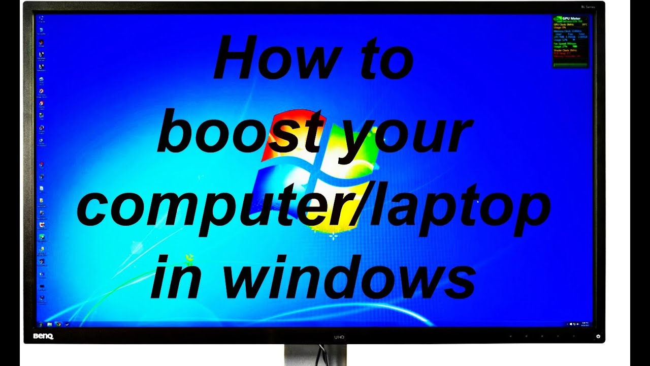 how to make your desktop laptop faster in windows 10 8 7 xp youtube. Black Bedroom Furniture Sets. Home Design Ideas