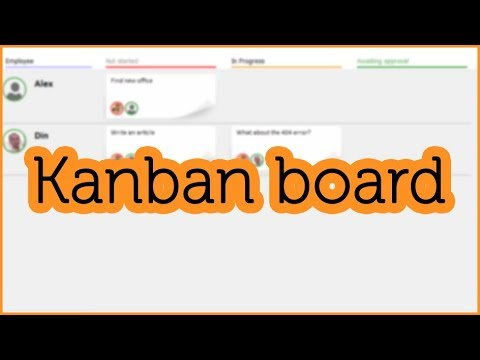 """How to use the """"Kanban board"""" program"""