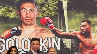 GGG vs Rolls NYC press conference and face off!
