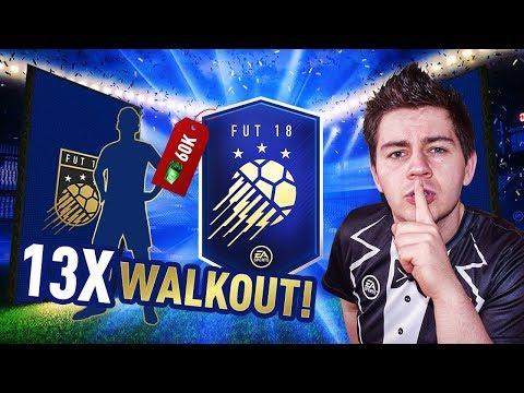 NAJLEPSZE PACZKI TOTY - 13x WALKOUT - 60 000 FP PACK OPENING | FIFA 18
