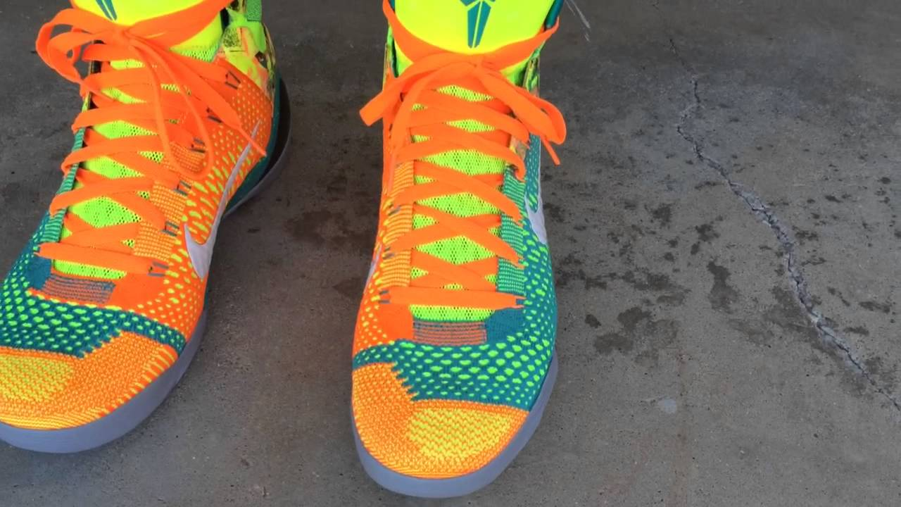 nike kobe 9 ix elite quotinfluencequot on feet youtube