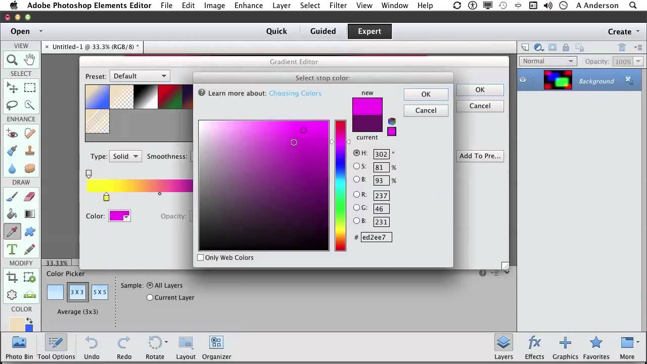 Photoshop elements 11 tutorial working with gradients youtube photoshop elements 11 tutorial working with gradients baditri Choice Image