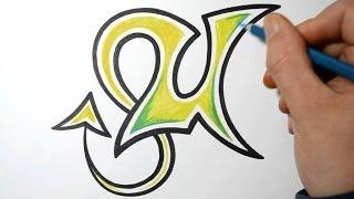 How to Draw Wild Graffiti Letters - U