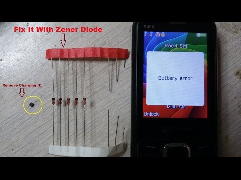 China Battery Error | Cahrging error | Fake Charging Problem Solution Here With Using Zener Diode