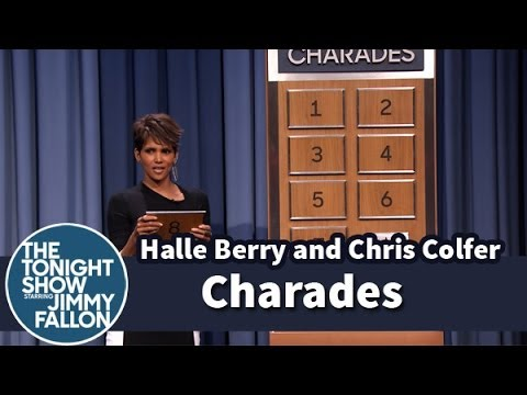 Charades with Halle Berry and Chris Colfer  Part 1