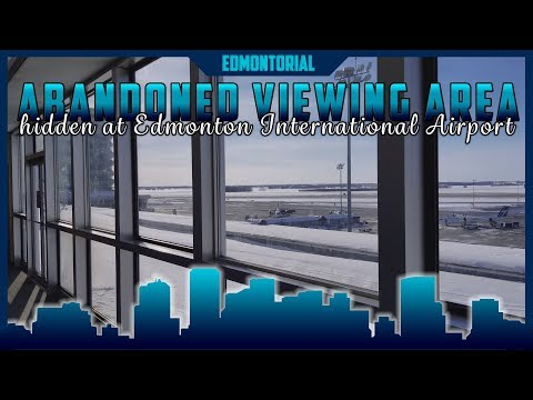 Old Abandoned Viewing Area at Edmonton International Airport, Alberta Canada - Edmontorial