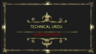 New simple INTRO for TECHNICAL URDU. my channel.