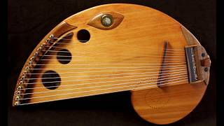 15 nylon string lap harp by Rays Rootworks