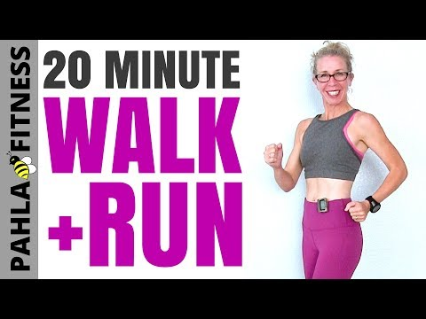 20 Minute Indoor WALKING + RUNNING with 30-Second Intervals | Getting in the Best Shape of Your Life