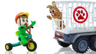 Superhero Baby Rescues Bunny Rabbit Pet 💖 Play Doh Stop Motion Cartoons