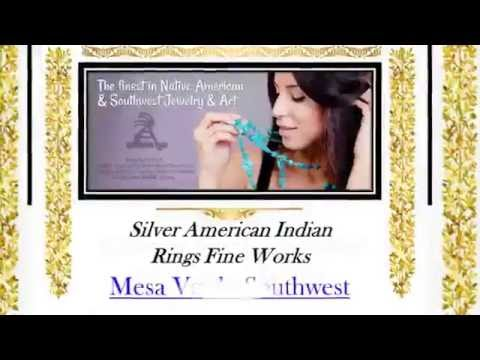Silver American Indian Rings Fine Works