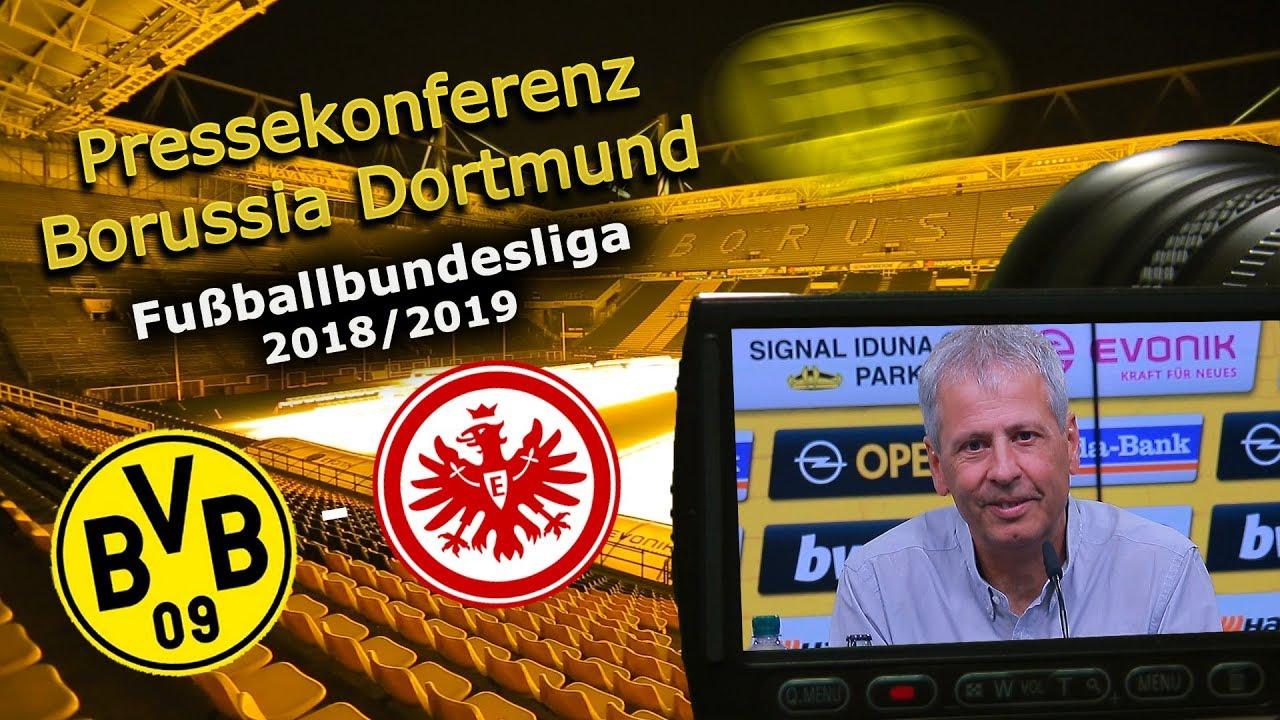 Borussia Dortmund - SG Eintracht Frankfurt: Pk  mit Lucien Favre und Michael Zorc