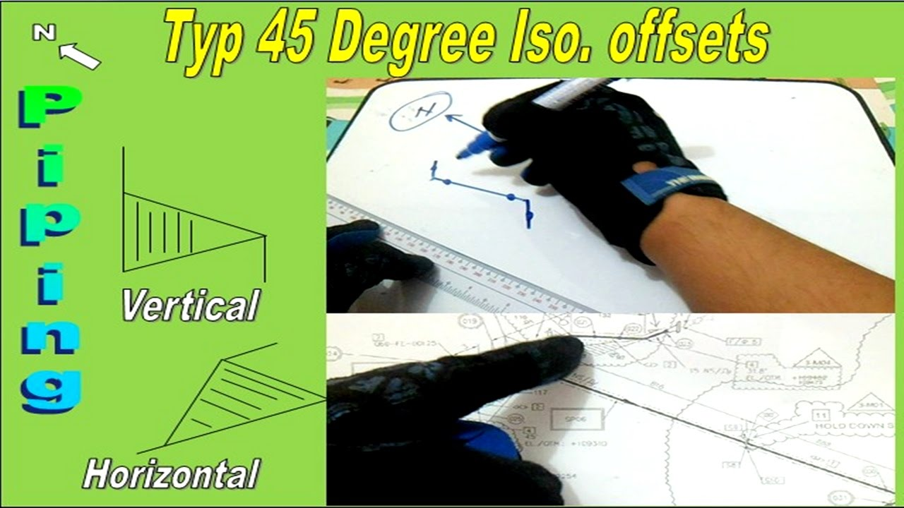 Piping Type 45 Degree Isometric Drawing Offsets Youtube